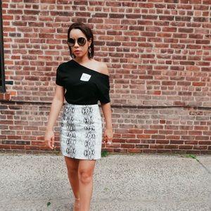 Chic Snake Mini Skirt- 1 Left